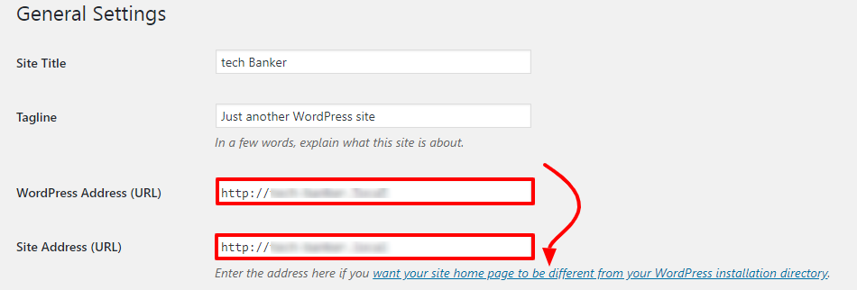 Change Url of WordPress Site