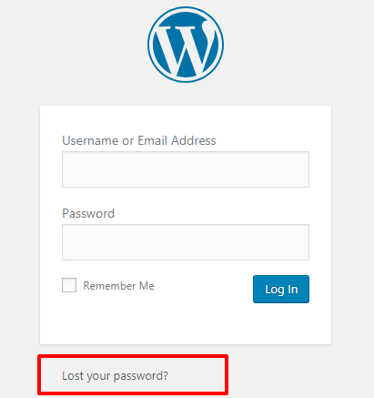 Click On Lost Password