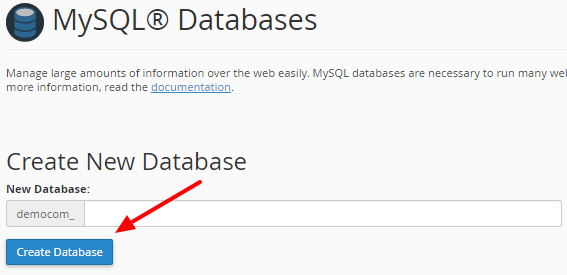 Create New Database