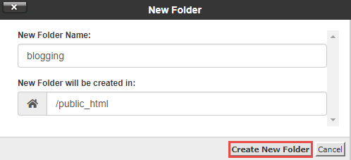 Create New Folder In File Manager