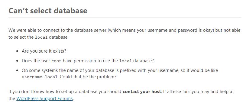 Database Corrupted