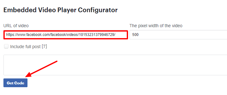 Embed Video Player Configurator