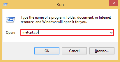 Run Command Inetcpl