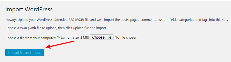 Upload and Import File
