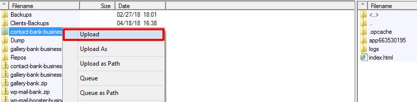 Upload Files To New WordPress