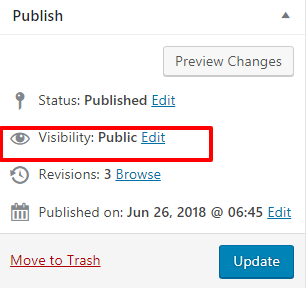 Visibility Option In Post