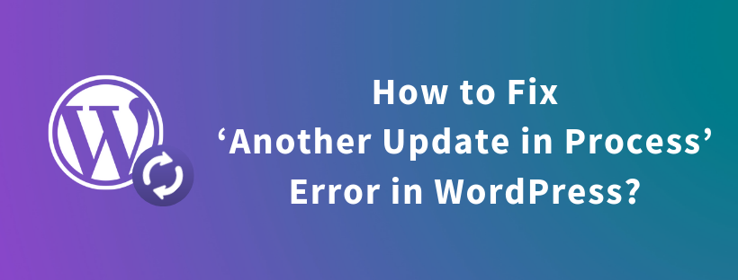 How to Fix Another Update in Process Error in WordPress?