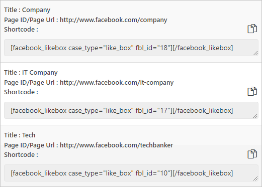 Shortcode Facebook Likebox